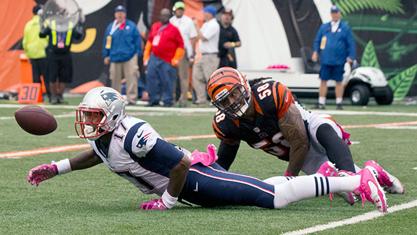 Patriots wide receiver Aaron Dobson against the Cincinnati Bengals