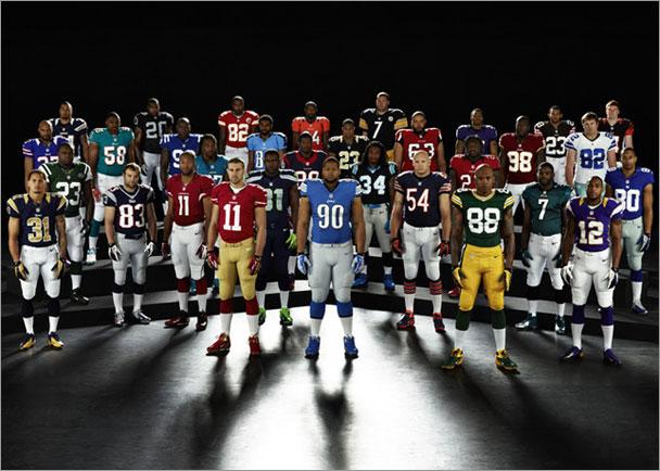 New NFL Uniforms Unveiled; Welker Models Patriots Version