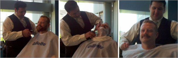 Thomas shaves