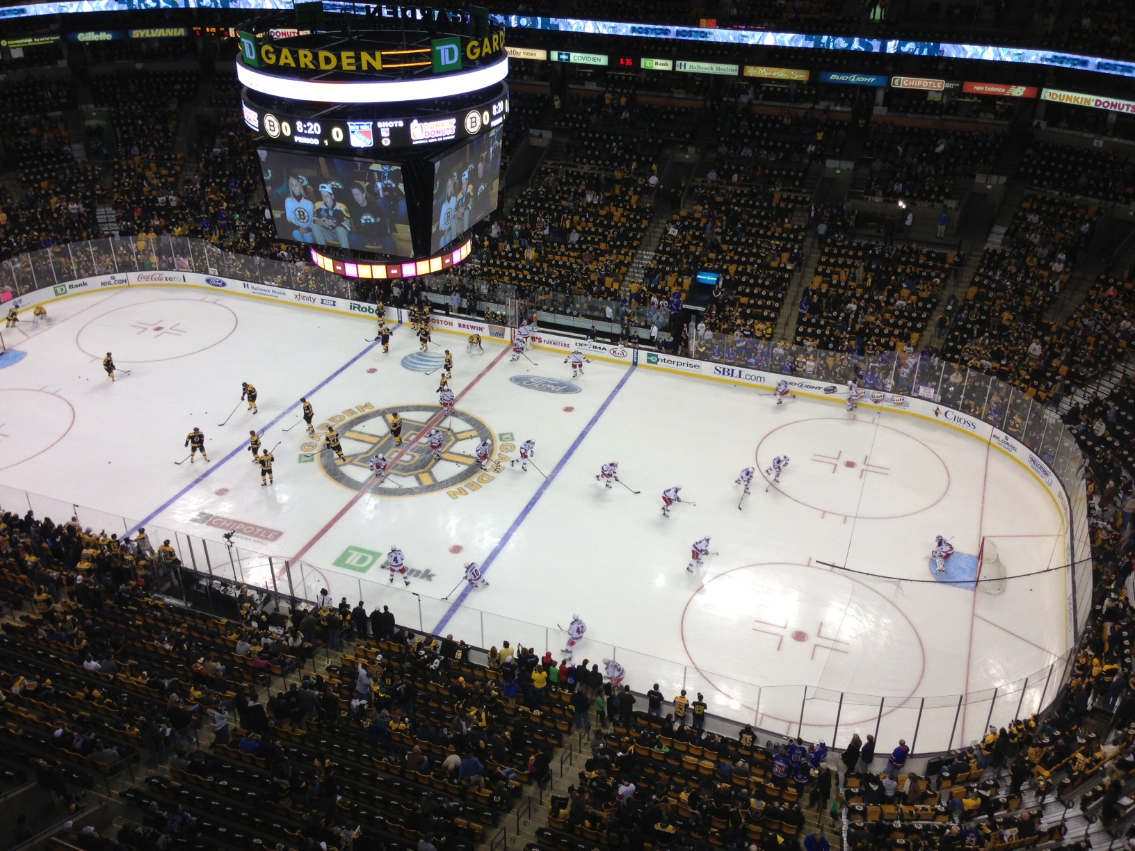 Final Bruins 3 Rangers 1