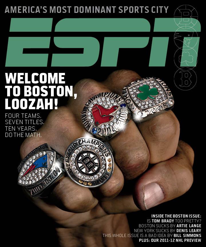 Boston Sports Rings Magazine Cover