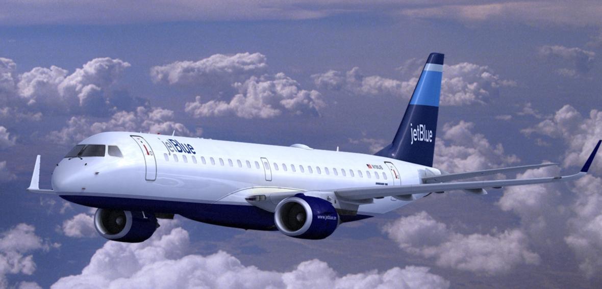 Volo diretto New York-Havana da luglio con JETBLUE Embraer_190_JetBlue_Clouds