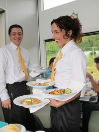 A three-course lunch and four-course dinner are served on the train.JPG