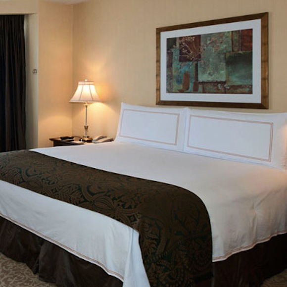 guestroom at the now closed four seasons hotel